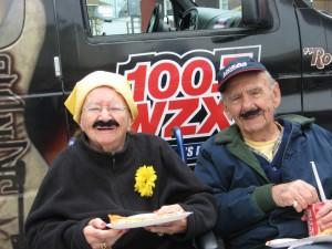 Senior Tony Boloney and Mrs. Boloney at Tony Boloney's Pizza Slaughterfest 2011